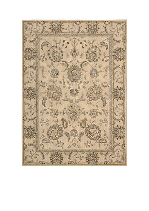"Persian Empire Ivory Area Rug 1010"" x 79"""
