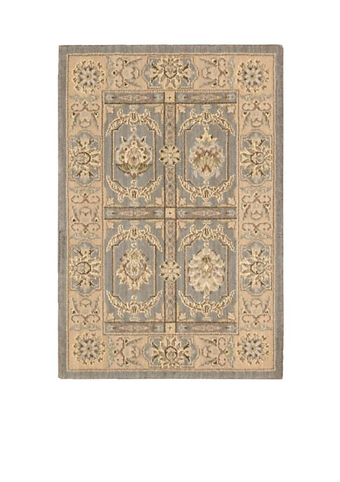 "Persian Empire Slate Area Rug 8 x 23"""