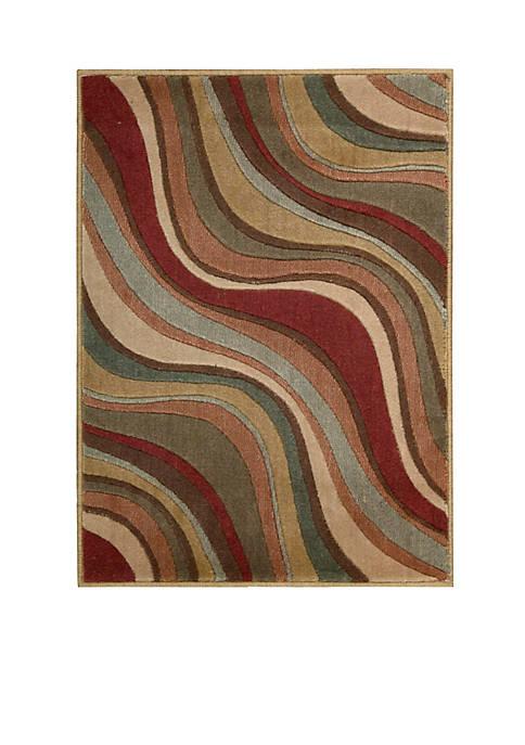 """Somerset Multicolor Area Rug 29"""" x 2"""