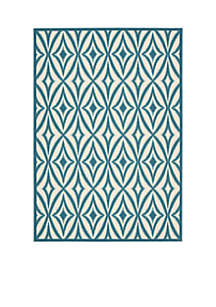 Sun n? Shade Indoor/Outdoor  Centro Azure Area Rugs - Online Only