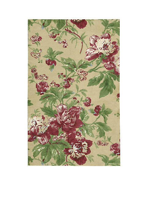Nourison Artisanal Delight Forever Yours Buttercup Area Rug