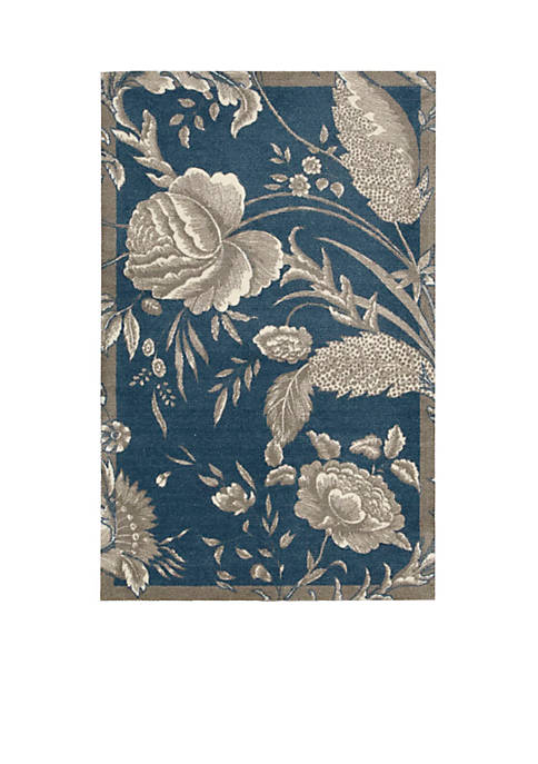 Nourison Artisanal Delight Fanciful Indigo Area Rug 4