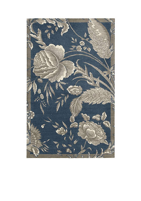 Nourison Artisanal Delight Fanciful Indigo Area Rug 5
