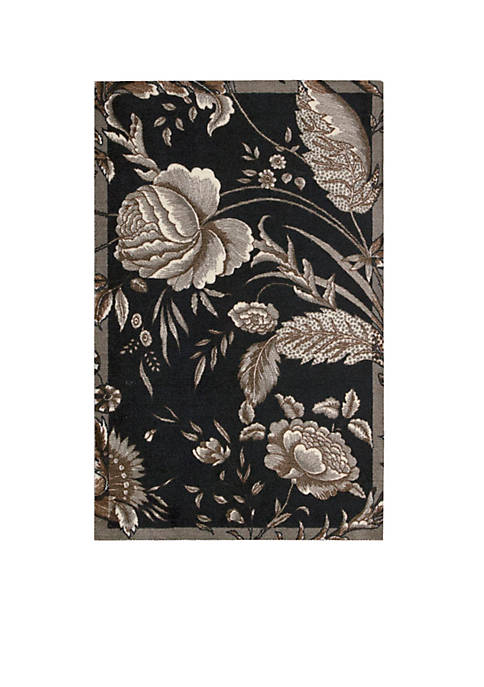 Artisanal Delight Fanciful Noir Area Rug 4 x 6