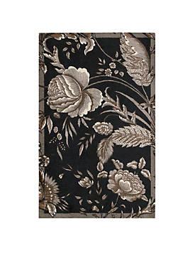Artisanal Delight Fanciful Noir Area Rug 5 x 7