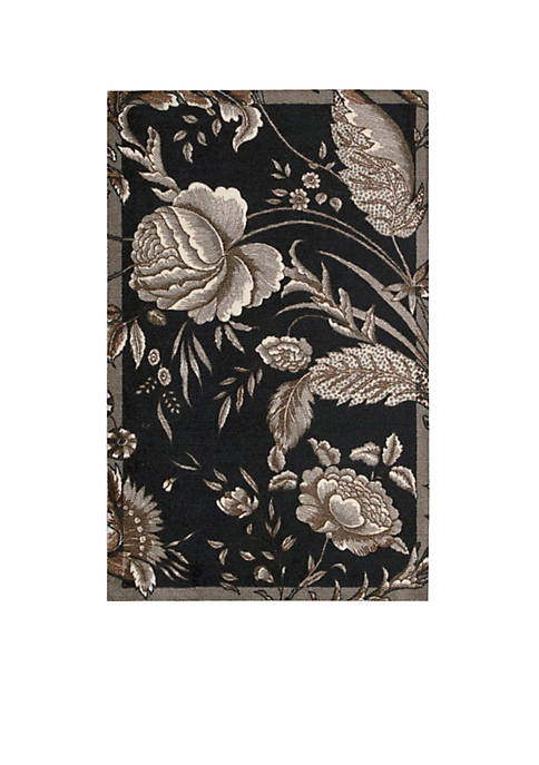 Nourison Artisanal Delight Fanciful Noir Area Rug 5