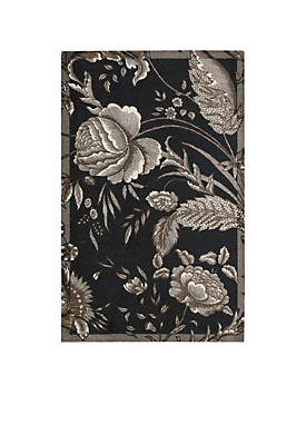Artisanal Delight Fanciful Noir Area Rug 8 x 10