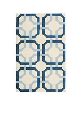 Artisanal Delight Groovy Grille Sky Area Rug