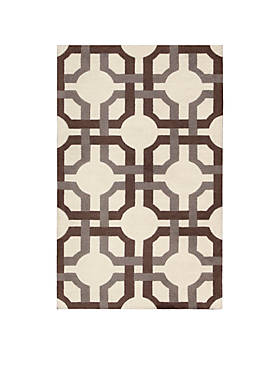 Artisanal Delight Groovy Grille Tobacco Area Rug