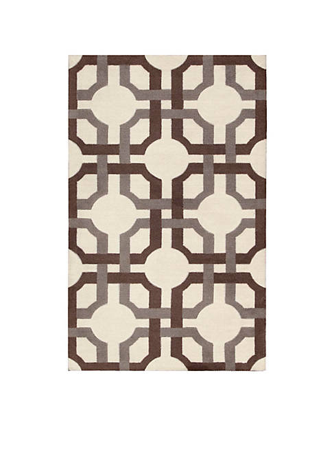 Nourison Artisanal Delight Groovy Grille Tobacco Area Rug