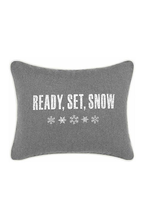 Ready Set Snow Throw Pillow