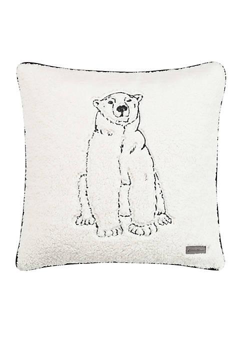 Cozy Polar Bear Throw Pillow
