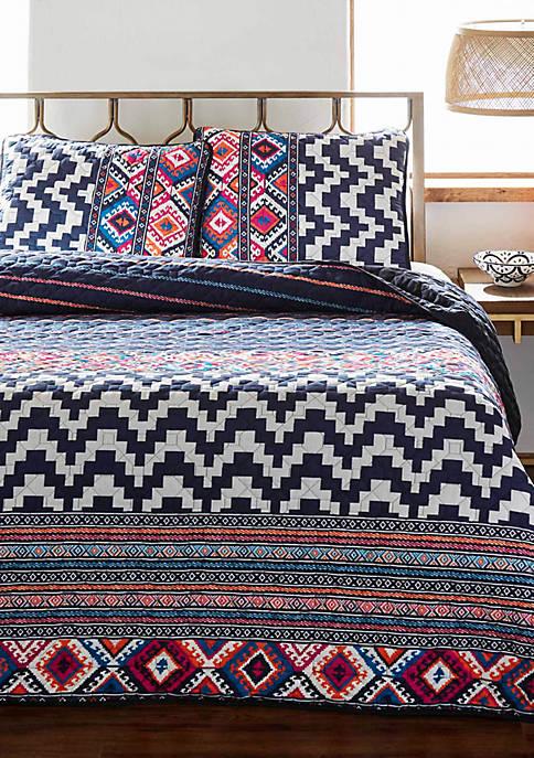 Azalea Skye Kilim Stripe Quilt Set