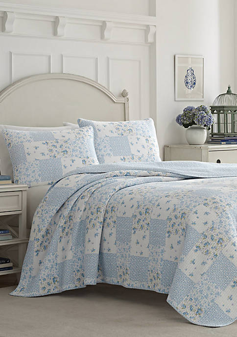 Laura Ashley Kenna Cotton Quilt Set