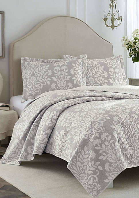 Laura Ashley Rowland Cotton Quilt Set