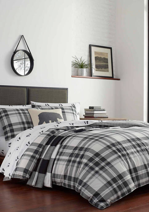 Eddie Bauer Coal Creek Plaid Cotton Comforter Sham