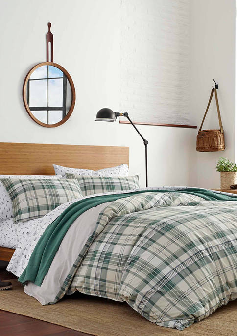 Eddie Bauer Timbers Plaid Cotton Comforter Sham Set