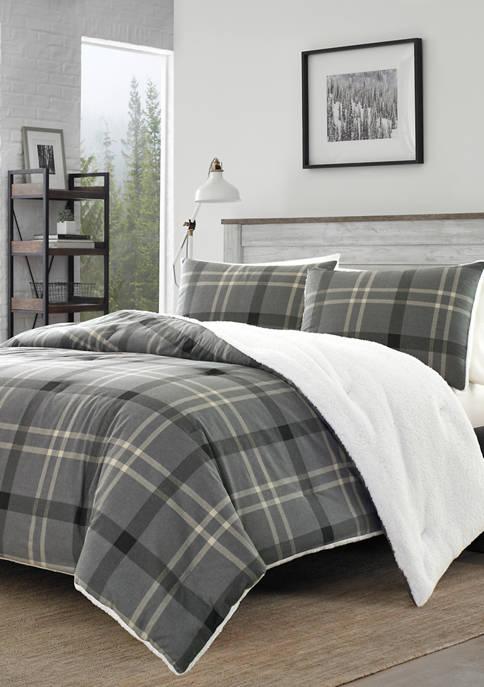 Eddie Bauer Yarrow Point Flannel Sherpa Comforter Sham