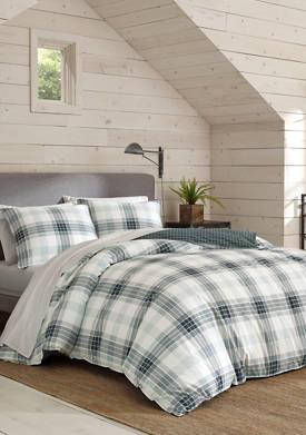 Winter Ridge Plaid Cotton Comforter Sham Set
