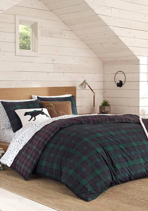 Eddie Bauer Woodland Tartan Cotton Comforter Sham Set