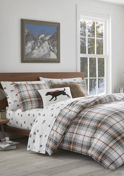 Classic Plaid Red Comforter Set