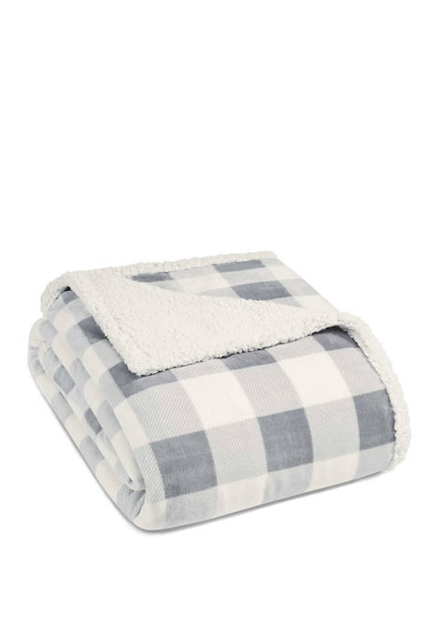 Eddie Bauer Mountain Plaid Chrome Blanket