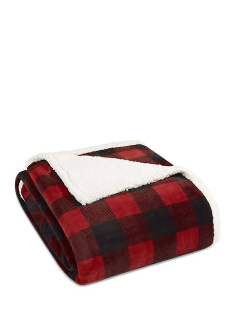 Eddie Bauer Mountain Plaid Chrome Blanket