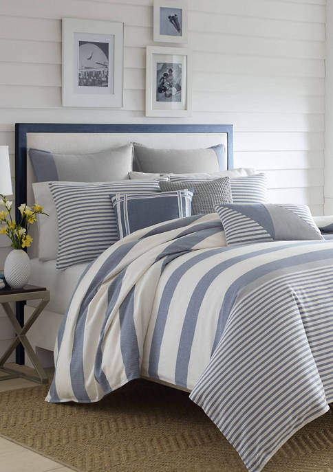 Nautica Fairwater All Cotton Blue Duvet Set