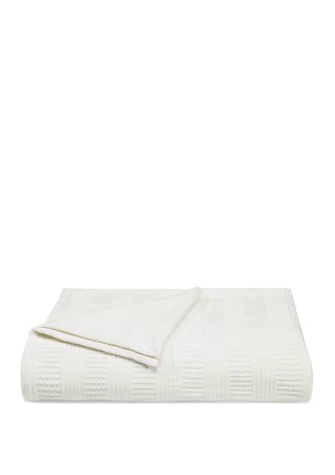 Nautica Rope Stripe All Cotton Blanket