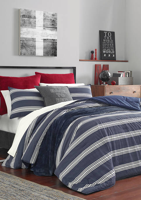 Nautica Craver Navy Cotton Duvet Cover Set