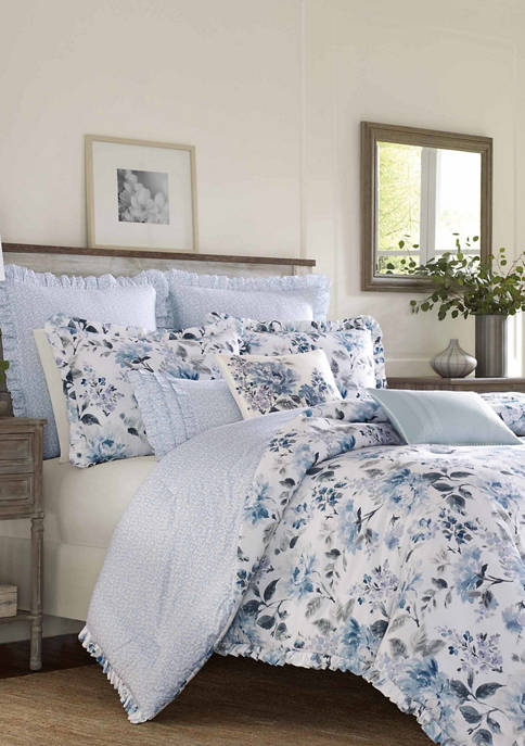 Laura Ashley Chloe Cotton Duvet Cover Set