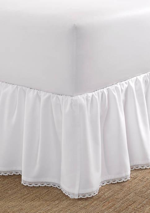 Crochet Ruffle Cotton Sateen Ruffled Bedskirt