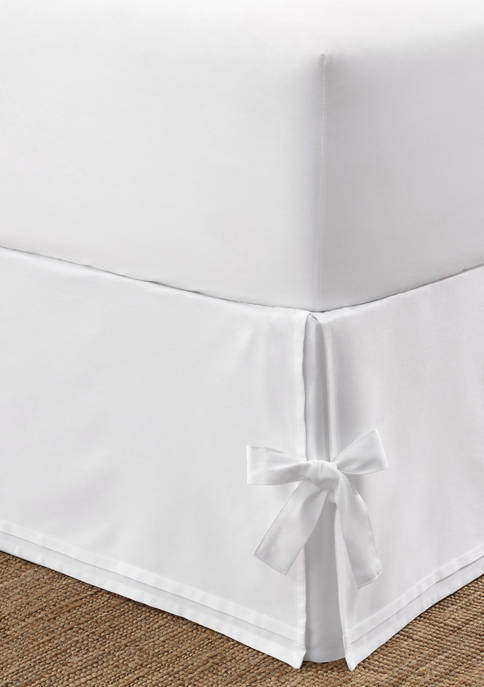 Laura Ashley Corner Ties Cotton Sateen Tailored Bedskirt
