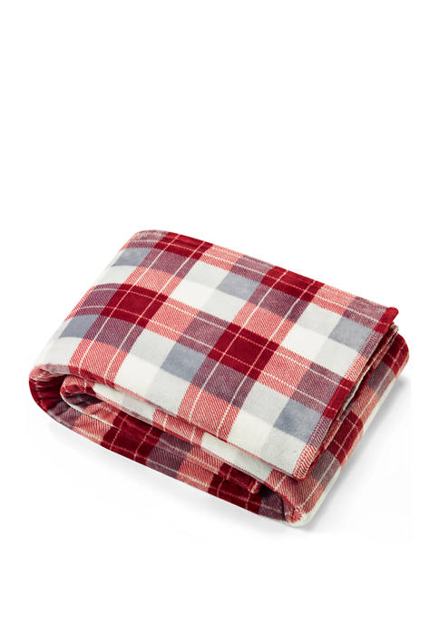 Nautica Bluff Plaid Plush Blanket