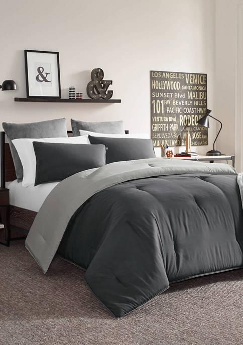 Solid Reversible Comforter Sham Set