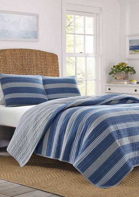 Nautica Saltmarsh Cotton Quilt Sham Set