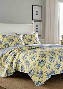 Linley Yellow Quilt Set, Twin