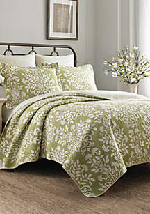 Rowland Green Quilt Set, Full/Queen