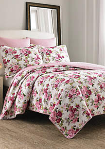 Full/Queen Lidia Multi Pink Quilt Set