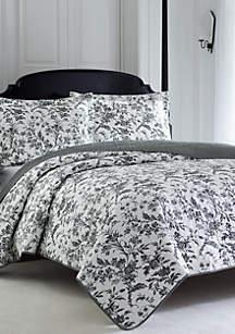 Twin Amberley Black/White Quilt Set