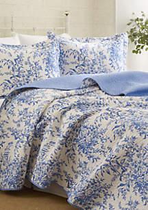 Full/Queen Bedford Blue Quilt Set