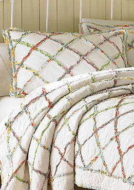 Ruffled Garden Cream Multi Standard Sham 20-in. x 26-in.