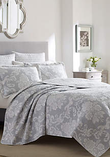 King Venetia Grey Quilt Set