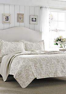 Full/Queen Amberley Grey Quilt Set