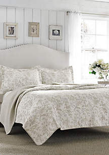 King Amberley Grey Quilt Set