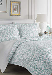 King Mia Soft Blue Quilt Set