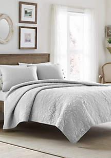 Twin Felicity Pastel Grey Quilt Set