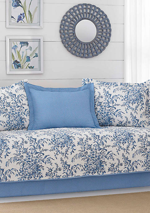 Laura Ashley Bedford Blue Daybed Set