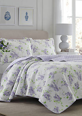 Twin Keighley Lt/Pastel Purple Quilt Set