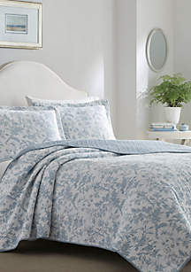 Full/Queen Amberley Bright Blue Quilt Set